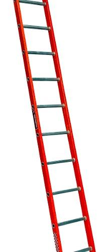 Escalera Recta Fibra De Vidrio 1o Peldaños Tipo Iii 429310