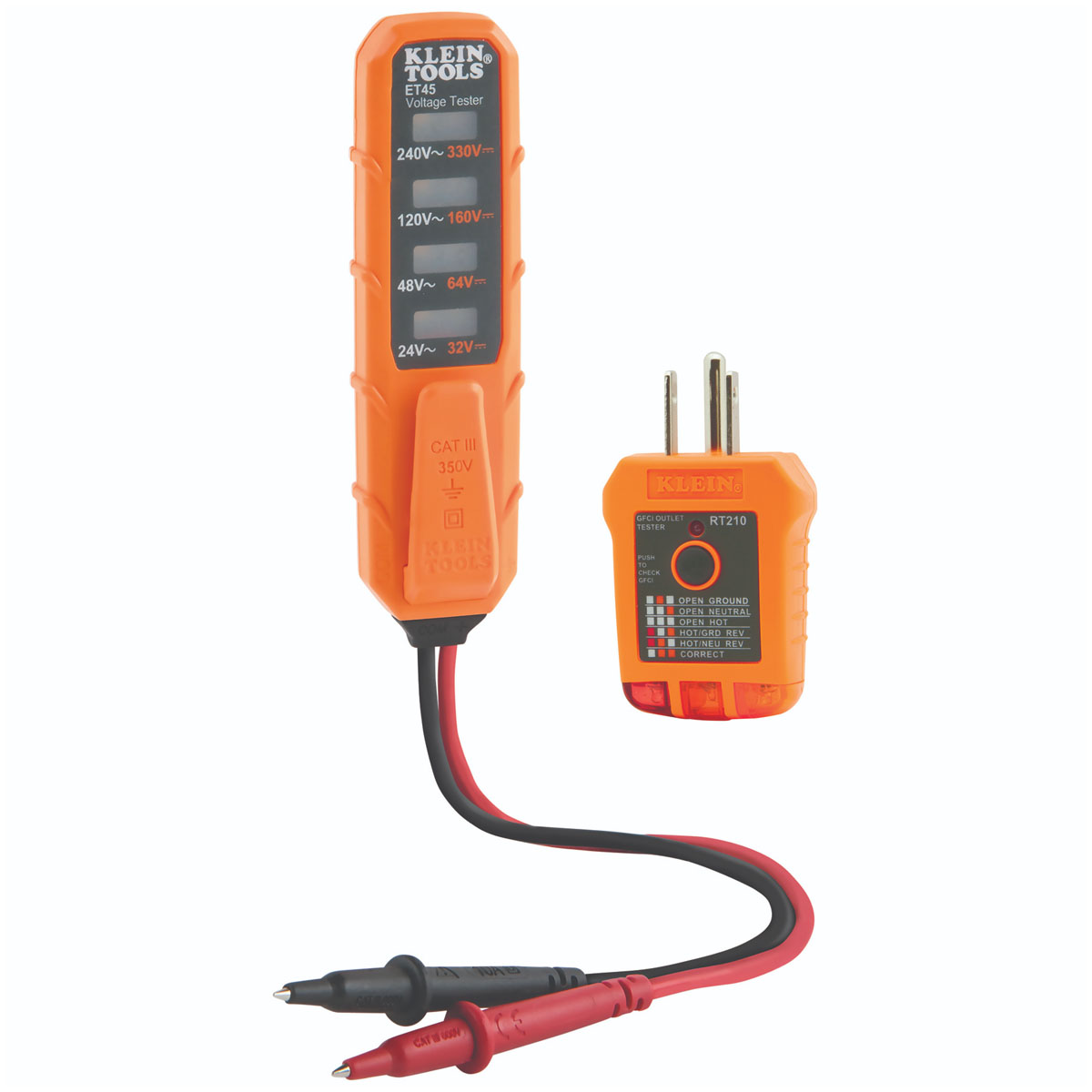 Probador Voltaje 24 a 240 V Kit Prueba Eléctrica Klein Tools
