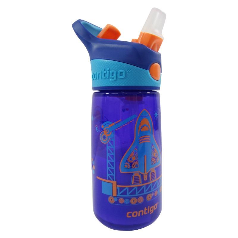 Botella Escolar Para Niños 14 Oz Cohete Azul Contigo