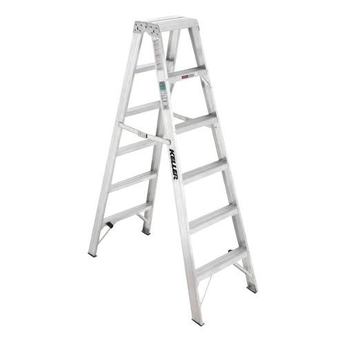 Escalera Tijeradoble6escaltipoii102 Kgaluminio Keller