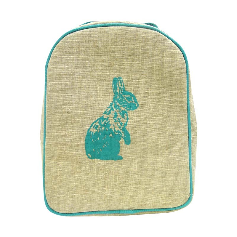 Lonchera Tipo Mochila Preescolar Niños Conejo Azul Soyoung