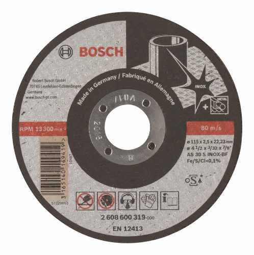 Disco Abrasivo Corte Expert Inox Cto Recto 4-1/2 X3/32 Bosch