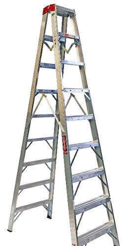 Escalera Tijera Doble Alum 8 Peldaños Tipoii 410208 Peldaños