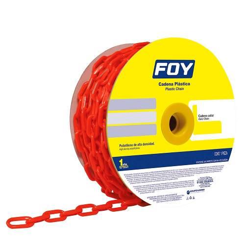 Cadena Plástica 6mm 1/4  25m Color Rojo 143419 Foy