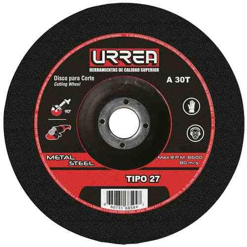 Disco T/27 Metal 7x1/4  E/pes U777 Urrea
