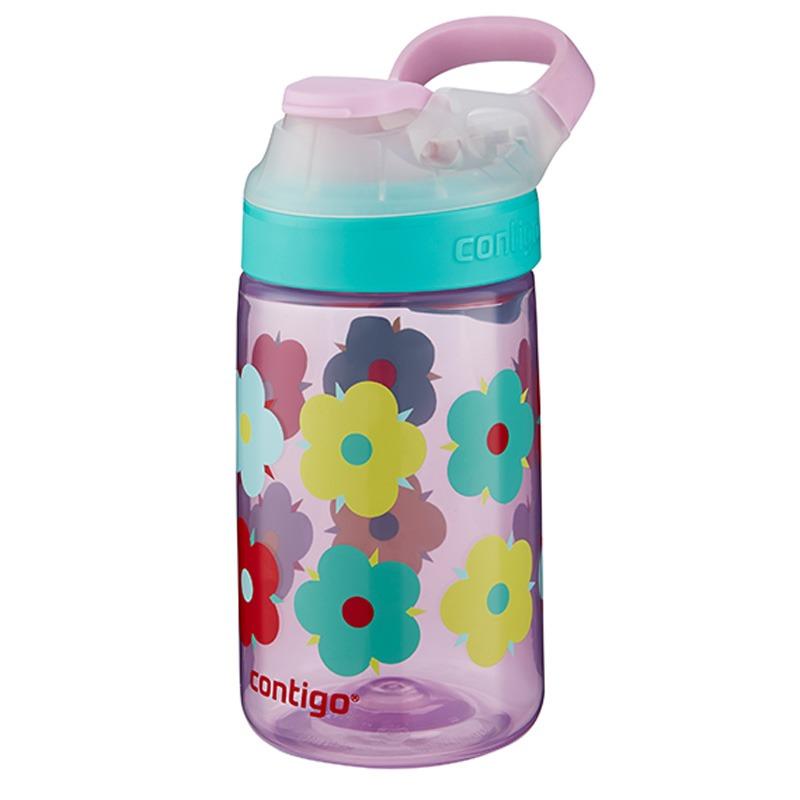 Botella Escolar Para Niños 14 Oz Autoseal Petalos Contigo