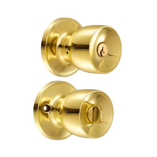 Cerradura Pomo (copa) Recámara Latón Brillante 23po Lock