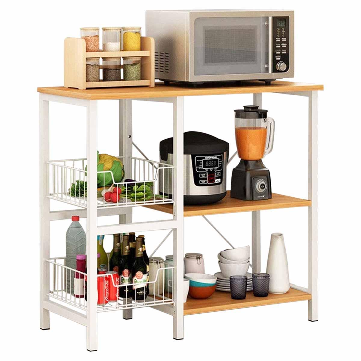 Rack Mueble Con Repisas Multiusos Horno de Microondas Cocina
