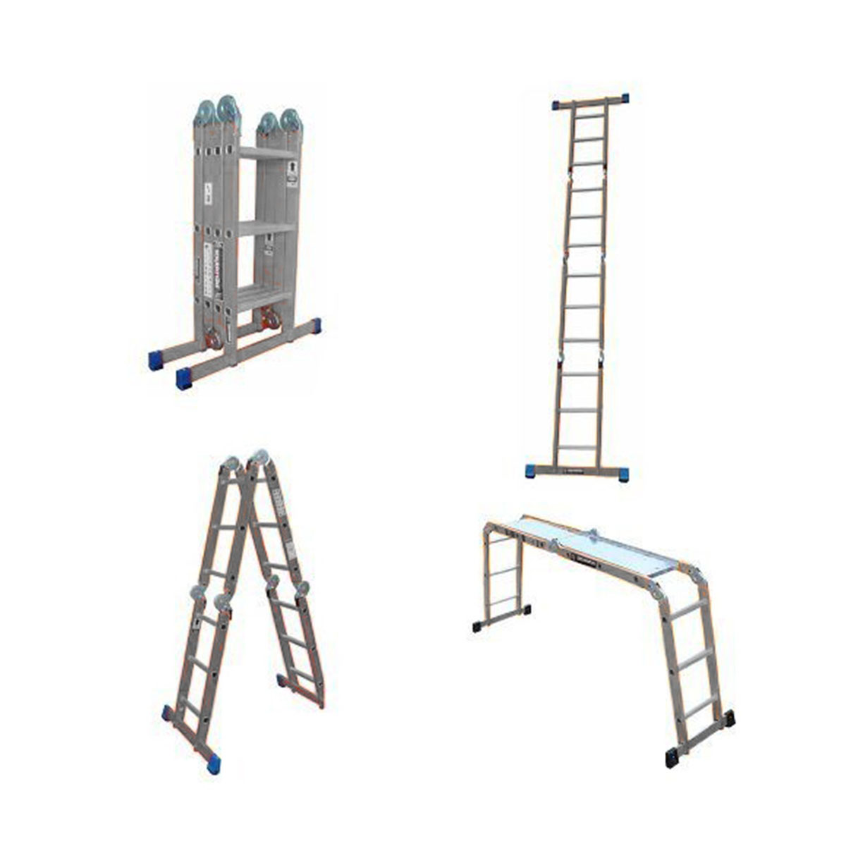 Escalera Multiposiciones 12 Escalones Con Charolas Peldaños