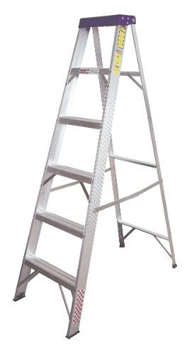 Escalera Tijera Aluminio 5 Peldaños Tipo Ii 706788 Peldaños