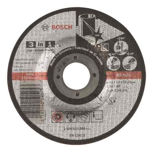 Disco Abrasivo Corte Desbexp 3en1 Ctorecto 4-1/2 X3/32 Bosch
