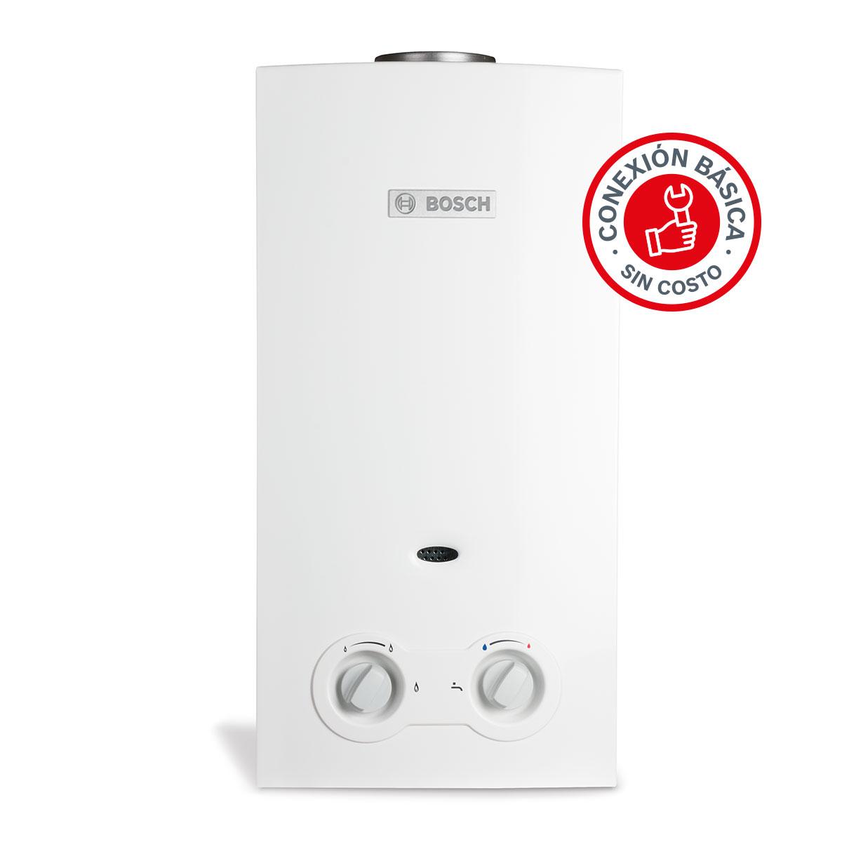 Calentador Instantaneo Agua Gas LP Hogar Casa WC Baño Bosch