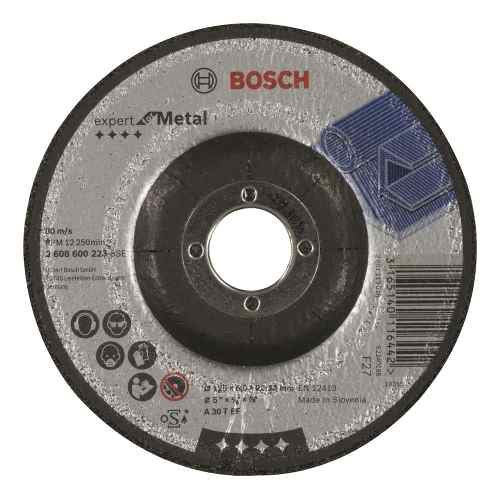 Disco Abrasivo Desbaste Exp Metal Cto Deprimido 5 X1/4 Bosch