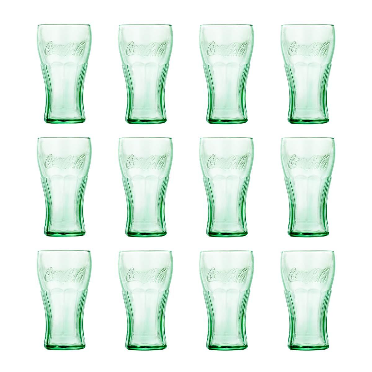 Juego 12 Vasos Vidrio Coca Cola 495 Ml Beber Cocina Libbey