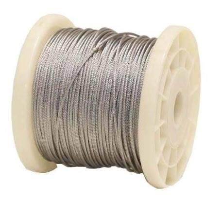 Cable De Acero En Rollo 7x19 1/8 Y 76 Metros Obi
