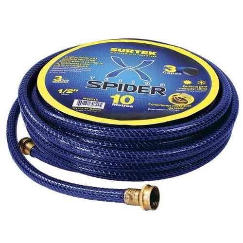 Manguera Spider 3/4in Armada Conector Metálico 25m Surtek