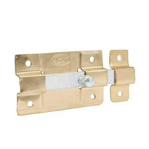 Pasador De Sobreponer 12 Cm Latón Brillante L038lbb Lock
