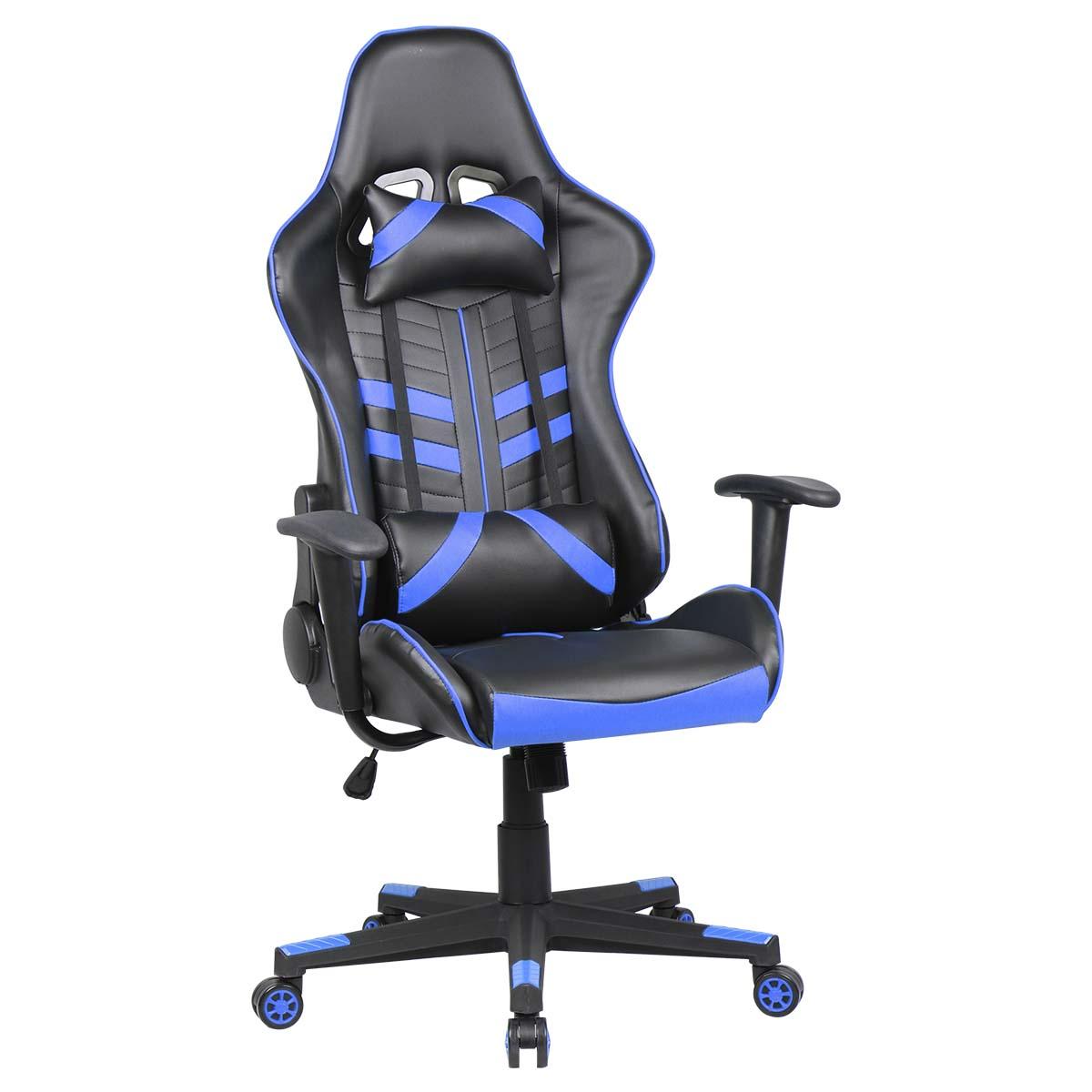 Silla Gamer Gaming Ergonomica Reclinable Azul De VideoJuegos