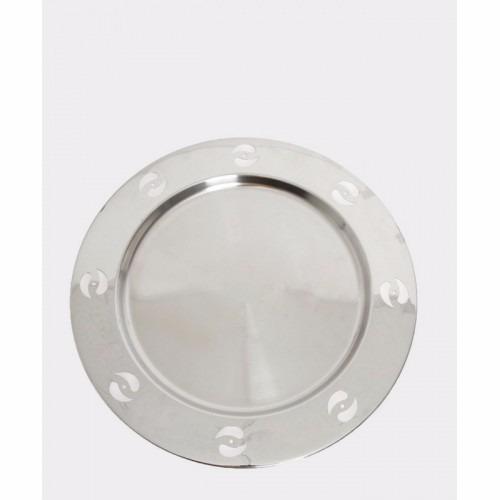 Plato De Servicio En Acero Inoxidable Diseño Gotas Namaro