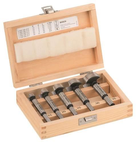 Set De 5 Brocas Para Madera Forstner 15 20 25 30 35 Mm Bosch