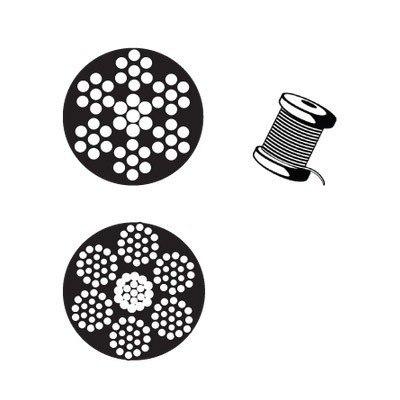 Cable Con Nylon 7x19 3/16-1/4 Y 150 M Negro Nylon Obi