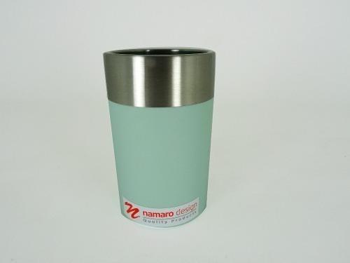 Vaso Acero Inoxidable. Pvc Verde Ba-436164 Namaro Design