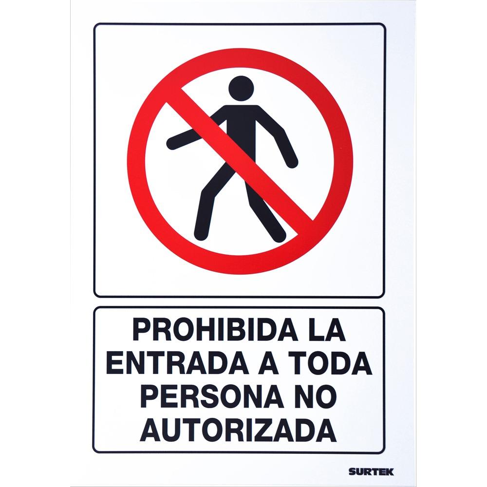 Señal Prohibida La Entrada Surtek