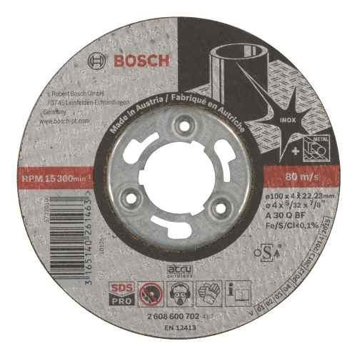 Disco Abrasivo Desbaste Inox Cto Recto 4 X5/32  Bosch