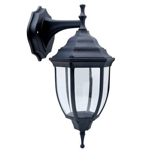 Farol Soportado Exterior Negro 60w Iluminacion 136132 Surtek