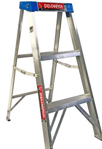Escalera Tijera Aluminio 2 Peldaños Tipo Ii 706785 Peldaños