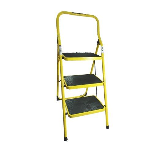Escalera Personal De Acero 3 Escalon Amarilla Peldaños Envio