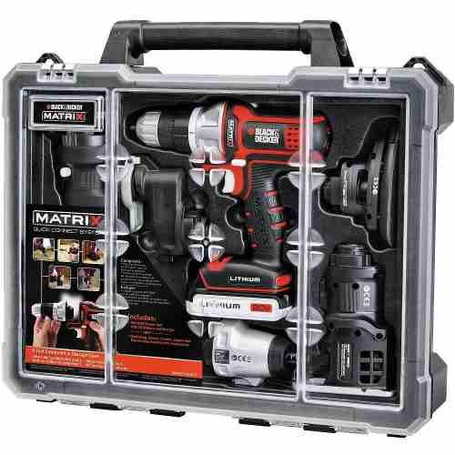 Taladro Matrix Kit 6 En 1 Multi Herramienta 20 V Black&decke