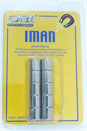 Iman Redondo Neodimio 10 X10 Mm Blister Con 10 Piezas N35
