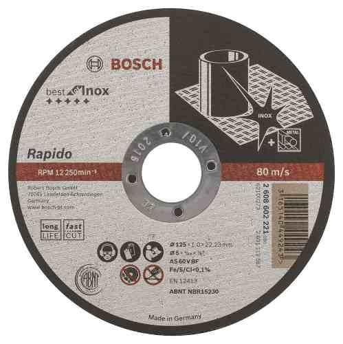 Disco Abrasivo Corte Expert Inox Cto Recto 5 X3/64  Ud Bosch
