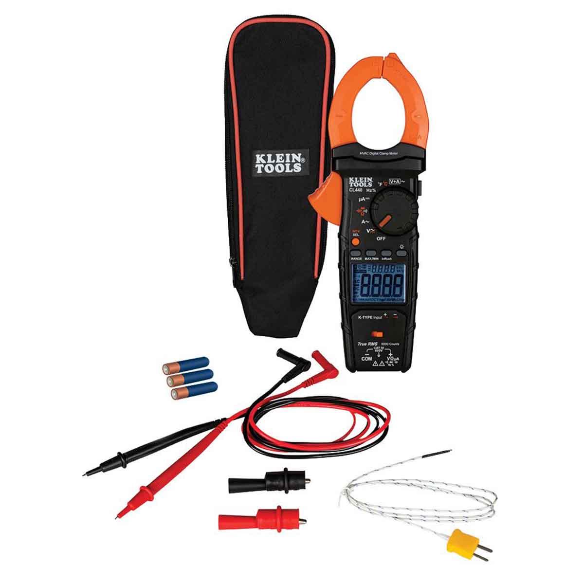 Multimetro De Gancho Digital Kit Prueba Electrica KleinTools