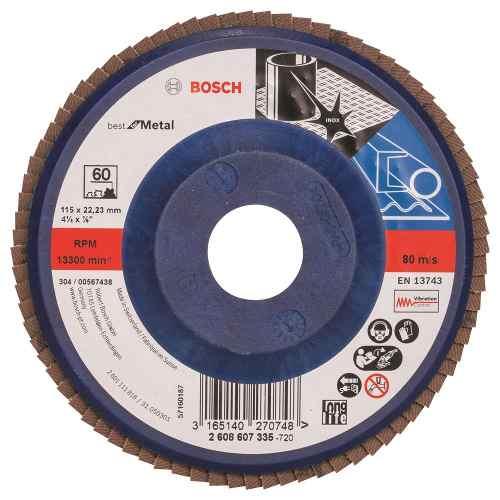 Disco Flap Recto  4-1/2  G60 Bosch