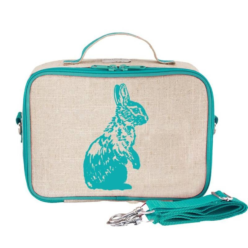Lonchera Escolar Para Niños Conejo Azul Claro Soyoung