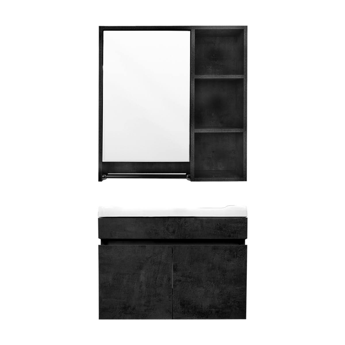 Mueble Para Baño Gabinete Organizador Lavabo Espejo Repisas
