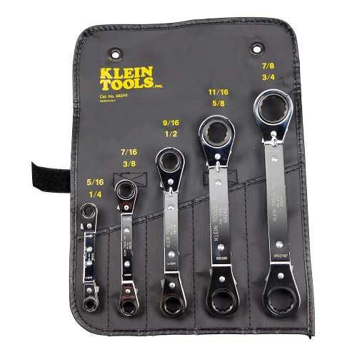 Juego De 5 Llave Estríadas Matraca Rever 68245 Klein Tools