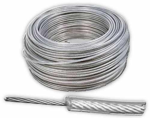 Cable De Acero Con Recubrimiento Pvc 7x7 1/8-3/16 Y 150 M