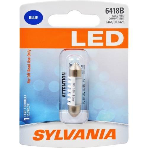 Foco Led Azul Festoon Sylvania 6418 36mm Paquete De 1 Pza