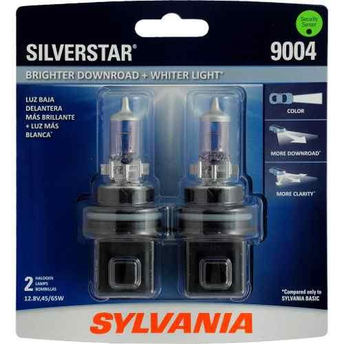 Foco Frontal Sylvania 9004 Silverstar Halogeno Luz Blanca 2p