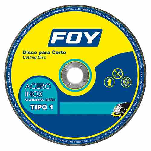 Disco T/1 Inox 4-1/2x1.6mm 143520 Foy
