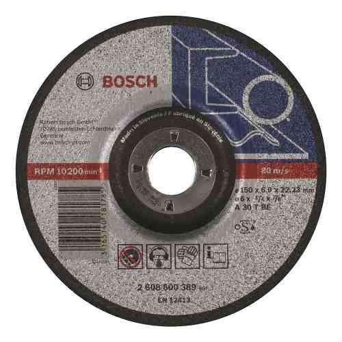 Disco Abrasivo Desbaste Exp Metal Cto Deprimido 6 X1/4 Bosch