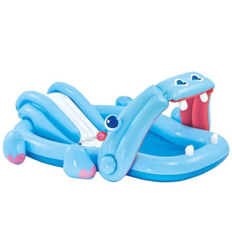 Centro De Juegos Inflable Hippo Con Tobogan Intex