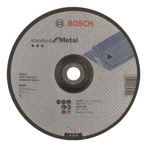Disco Abrasivo Corte Std Metal Cto Deprimido 9 X1/8  Bosch
