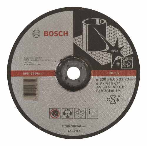 Disco Abrasivo Desbaste Exp Inox Cto Deprimido 9 X1/4  Bosch