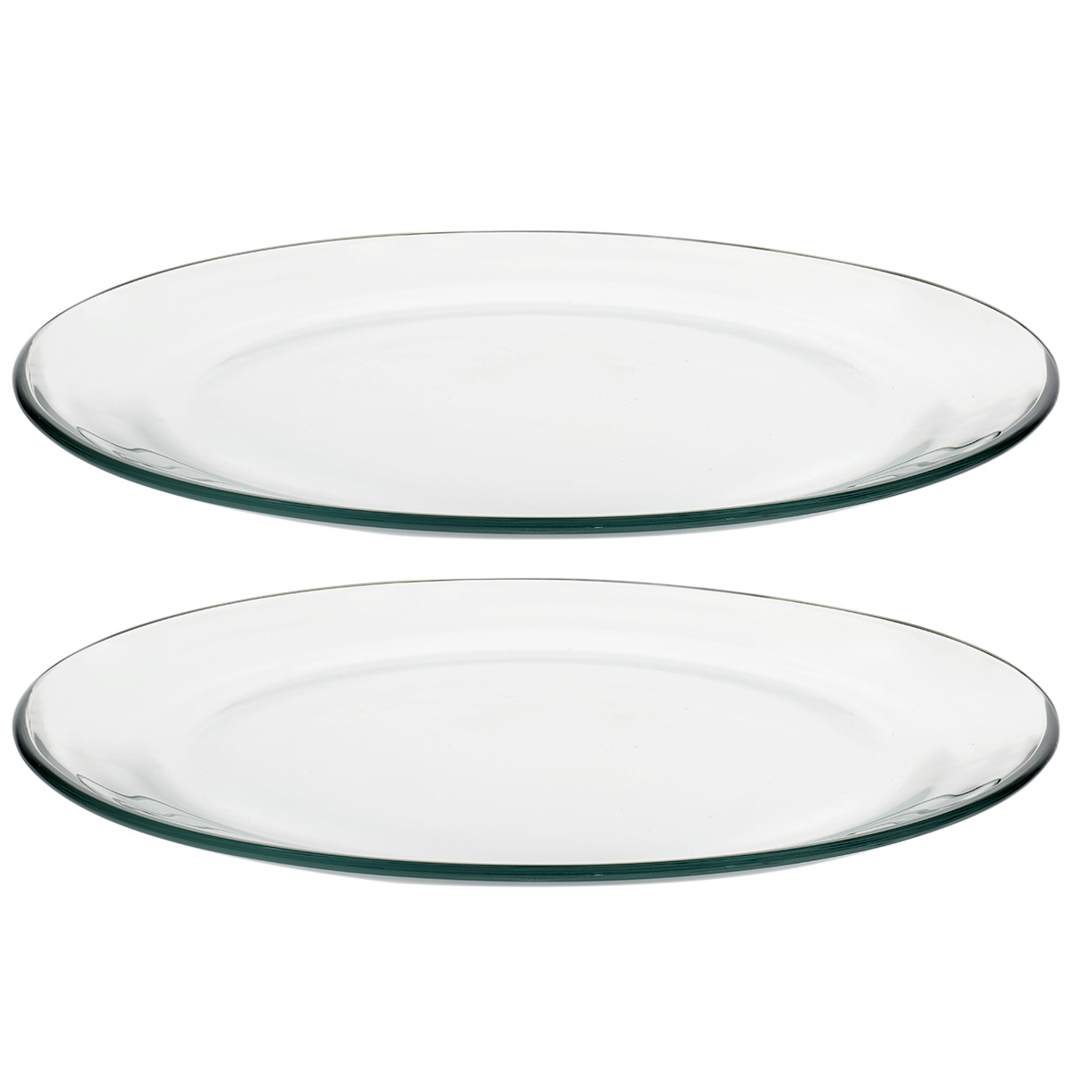 Set Platos Redondos Vidrio 22 Cm 2 Pzas Selene Cocina Libbey