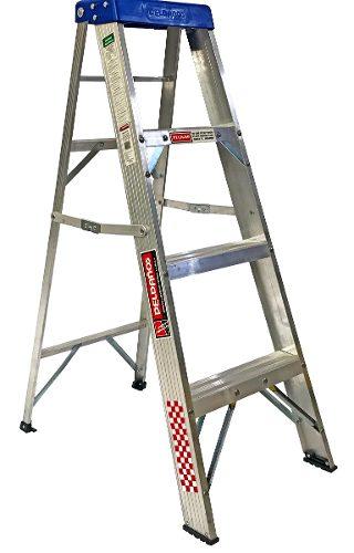 Escalera Tijera Aluminio 3 Peldaños Tipo Ii 706786 Peldaños
