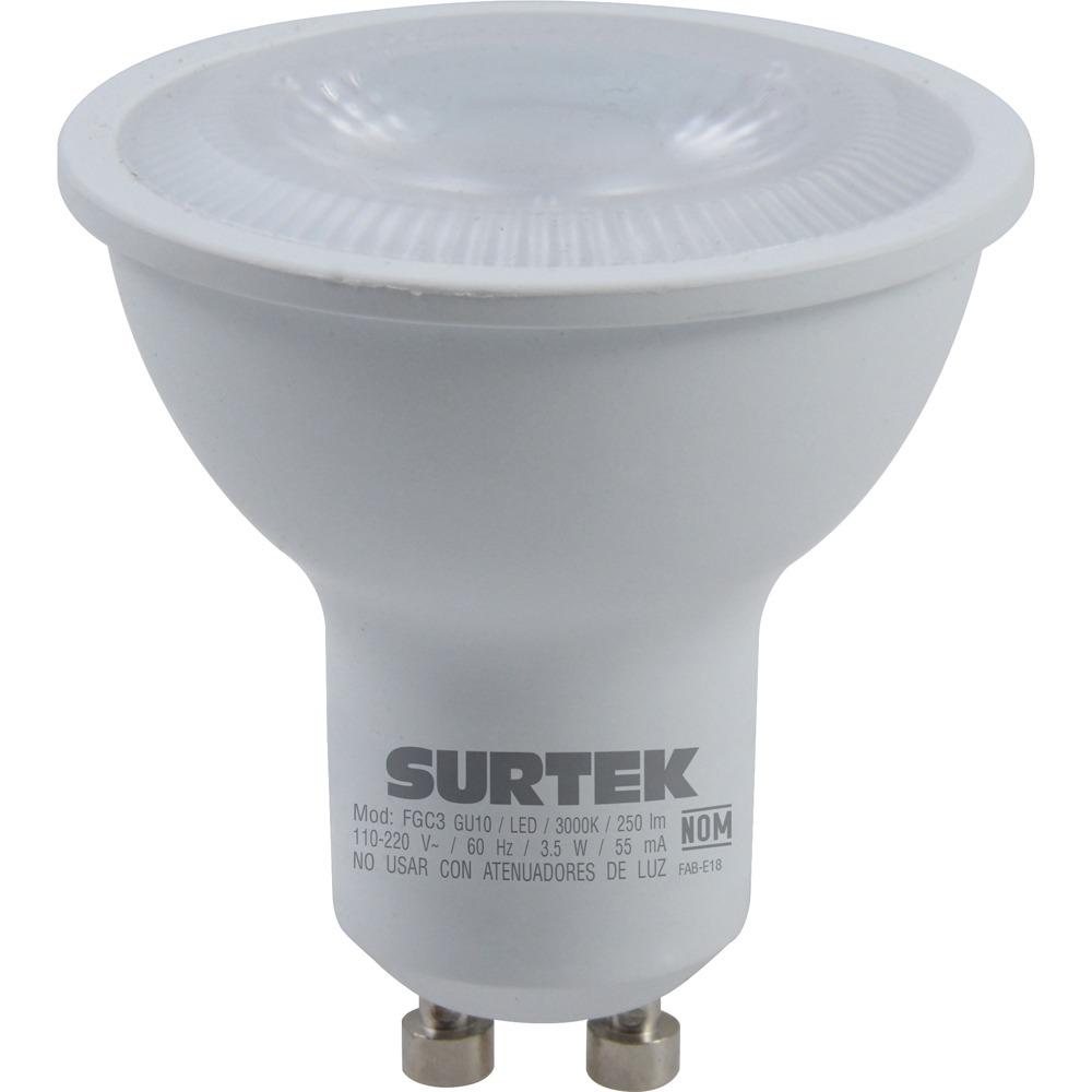 Foco Led Gu10 3.5w Luz Cálida Base Tipo Gu10 Surtek
